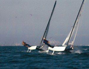 Sailing F18 Catamarans in Long Beach, California 2003