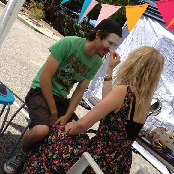Rotary face painting for the urban artists too