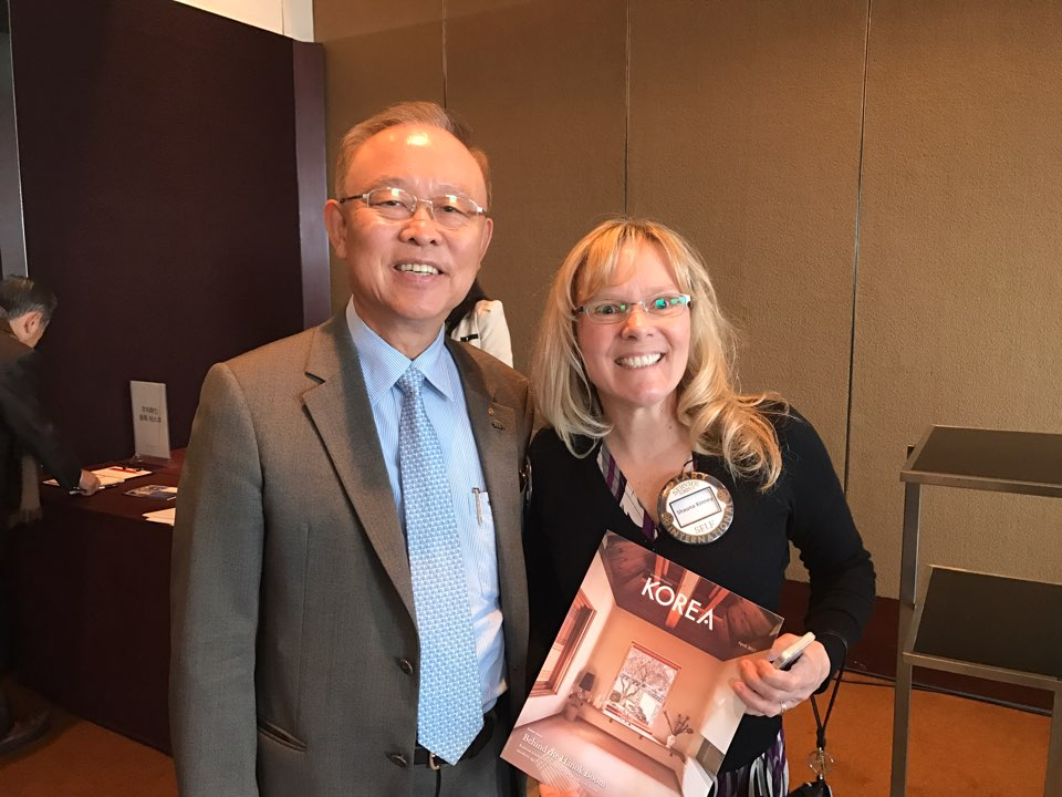 BR Sohn with Shauna Kinney at Rotary of Seoul