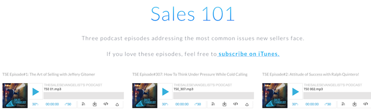 The Sales Evangelist, Sales Podcast, Sales Training